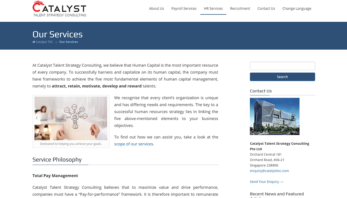 Catalyst TSC Services Page - English