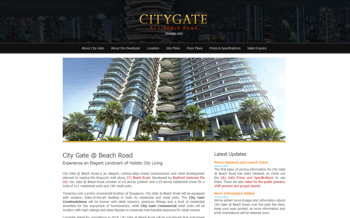 Citygate @ Beach Road - Main Page