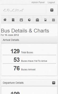 Arrival Departure Reports - Mobile View