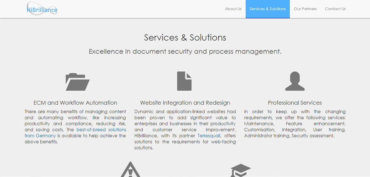 Services & Solutions — HiBrilliance