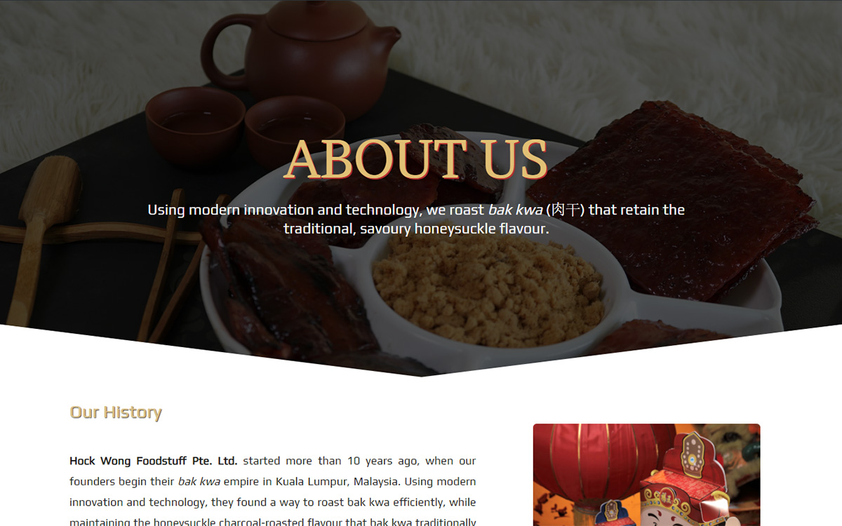 About Us — Hock Wong Foodstuff