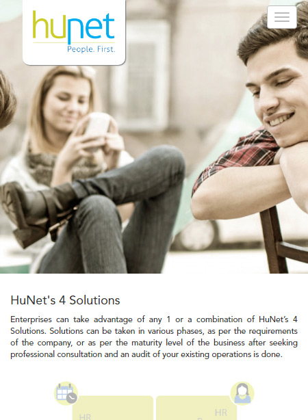 Our Solutions (Mobile) — HuNet