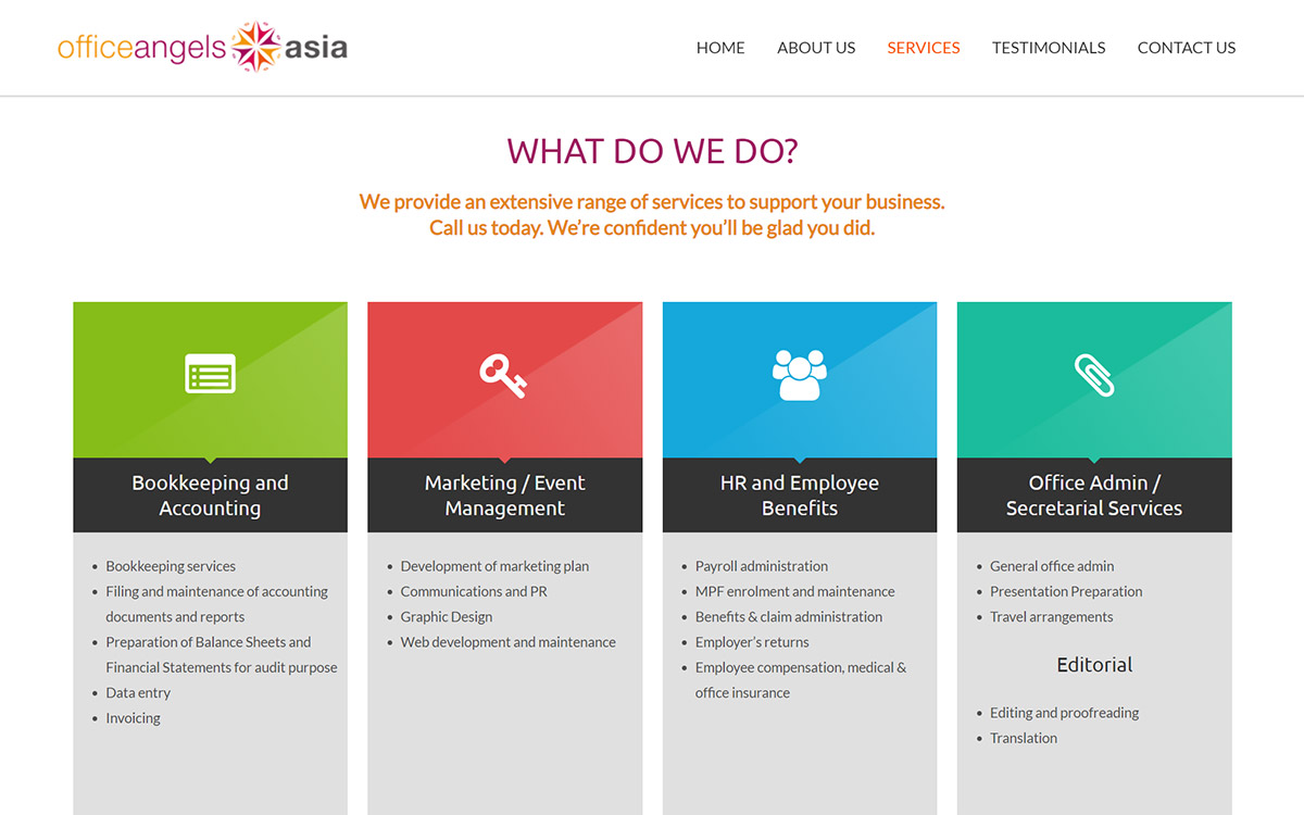 Services — Office Angels Asia