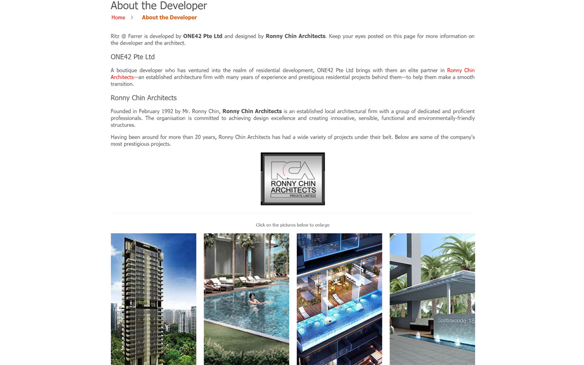 Ritz @ Farrer - About the Developer